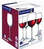 Набір келихів для вина Allegresse 420мл 4шт.Р Luminarc J8166, фото 2