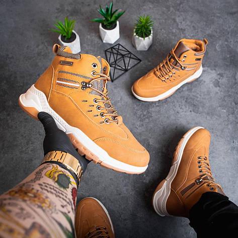 Мужские ботинки Баффало рефлект Pobedov (рыжие) 40 (26 см), фото 2