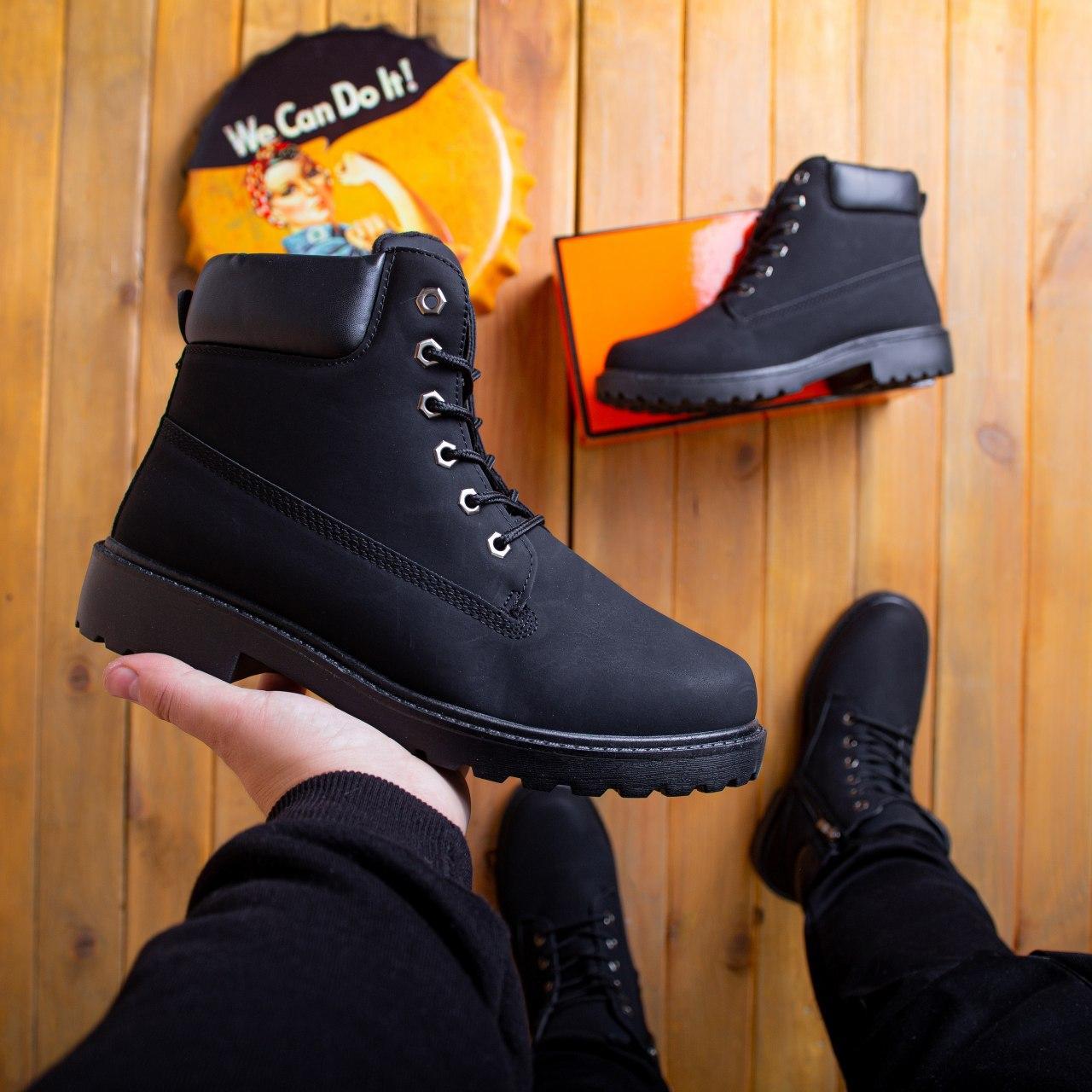 Мужские ботинки Лютер дифено Pobedov (черные)