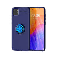 Чехол Fiji Hold для Huawei Y5p бампер накладка с подставкой Blue
