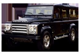 Дефлекторы на боковые стекла (Ветровики) для Land Rover (Лэнд Ровер) Defender 110 2001+