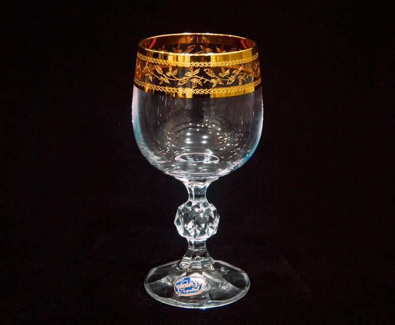 Келихи для вина Bohemia Claudia Gold 190мл 6шт