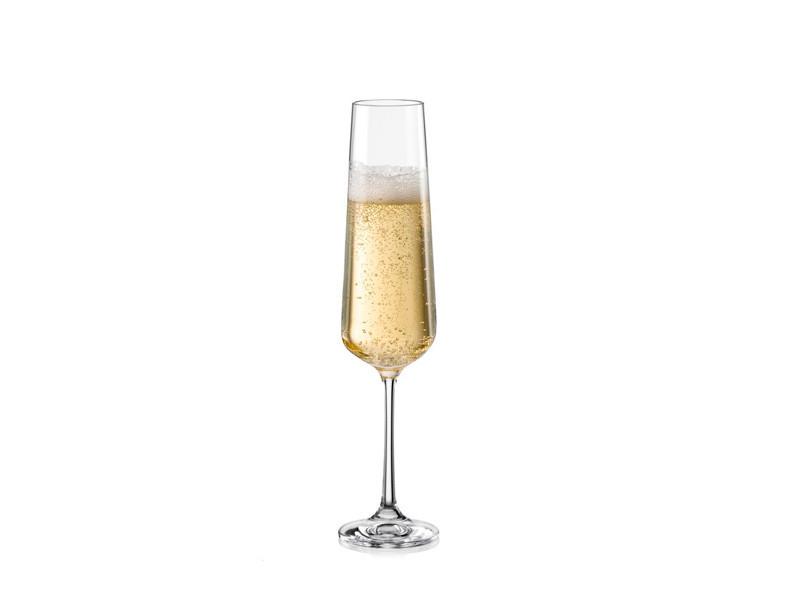 Келихи для шампанського Bohemia Sandra 200мл 6шт