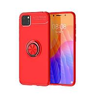 Чехол Fiji Hold для Huawei Y5p бампер накладка с подставкой Red