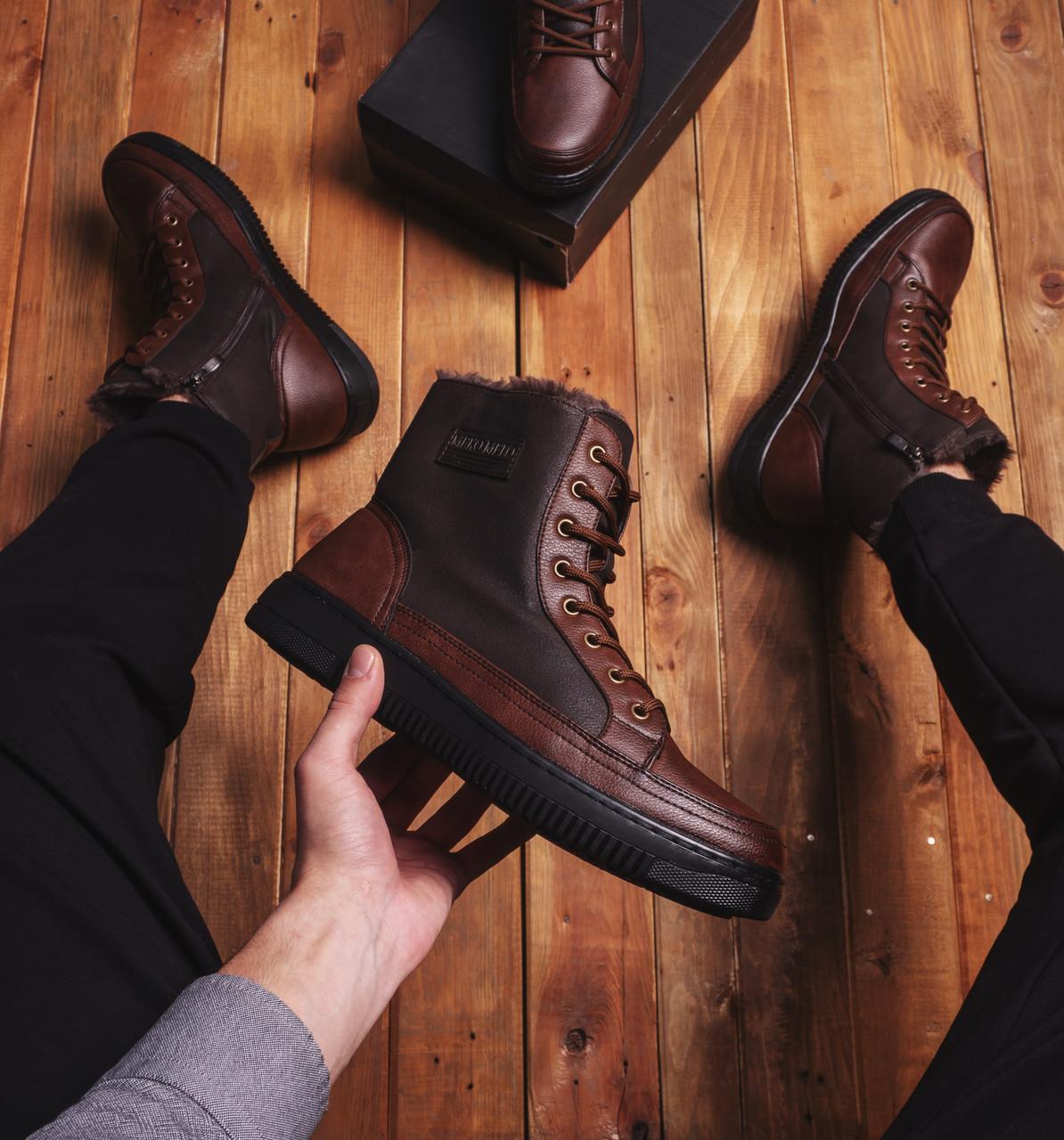 Мужские ботинки Меко Мело Pobedov (коричневые)