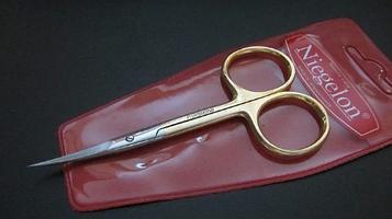 Ножиці для кутикул Niegelon (загнуті) gold 06-0813