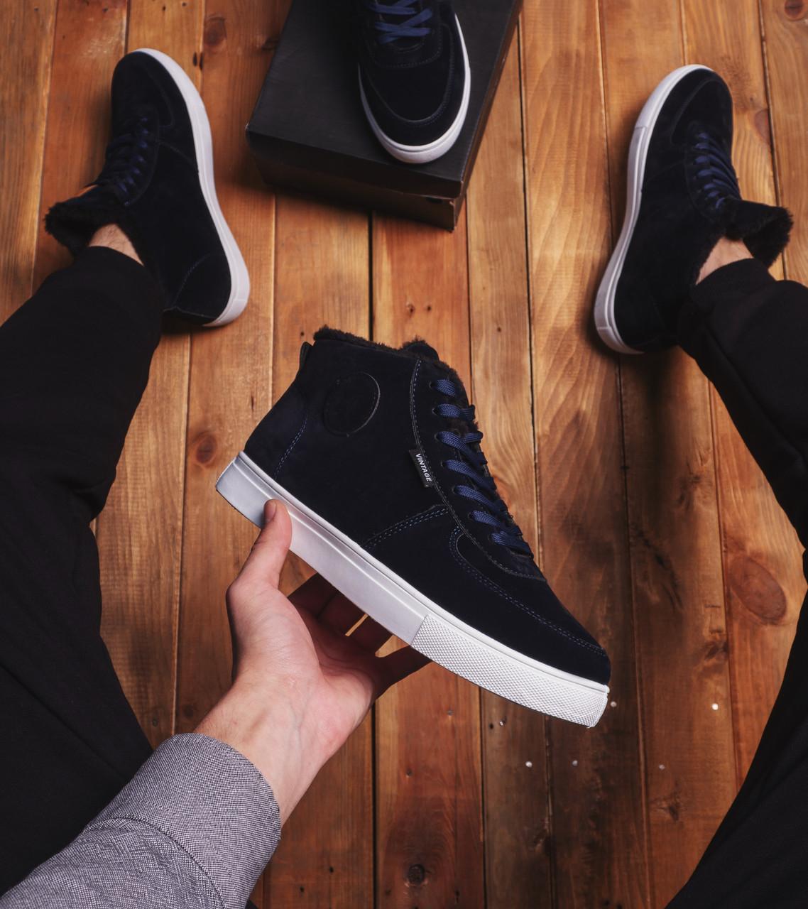 Мужские ботинки Винтаж Дак Pobedov (темно-синие)