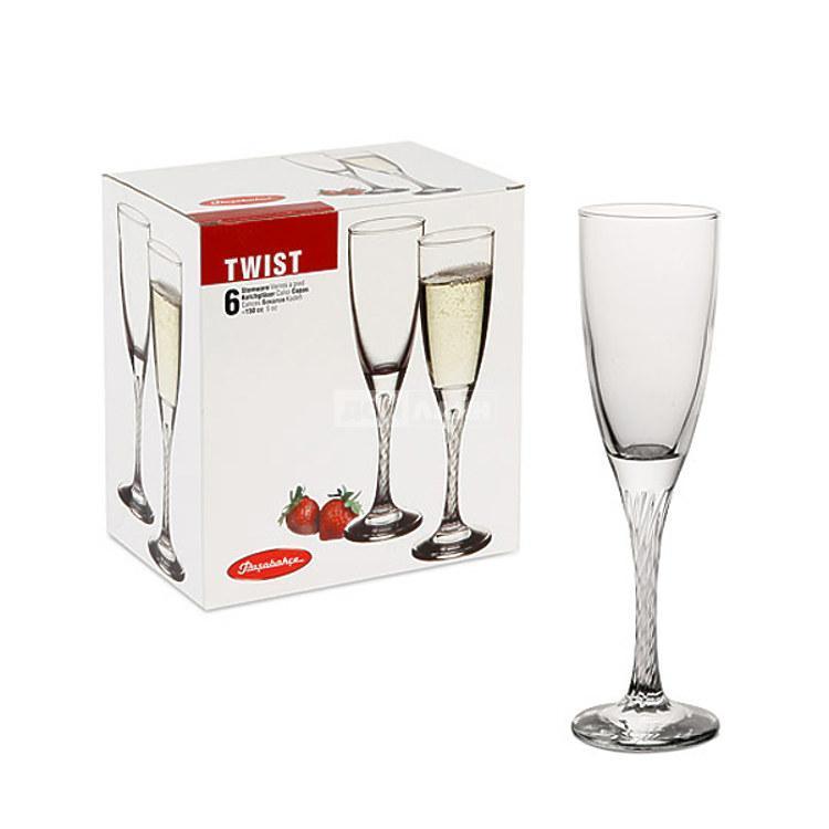 Набор бокалов для шампанского 150 мл 6 шт Twist Pasabahce PS-44307