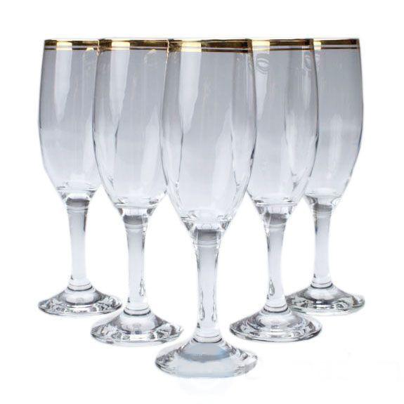Набір келихів для шампанського 190 мл 6 шт Art Craft 31-146-101