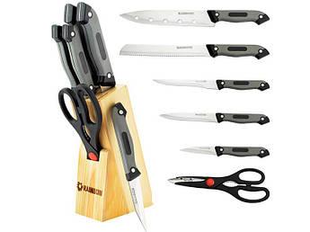 Набор ножей с ножницами в деревянной колоде Maestro 6пр