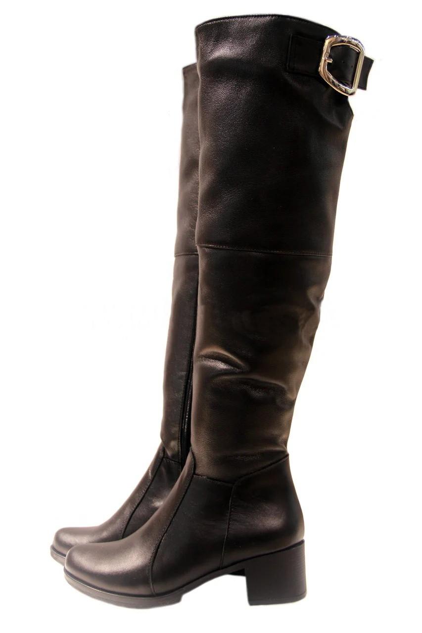 Женские кожаные сапоги последний размер 40