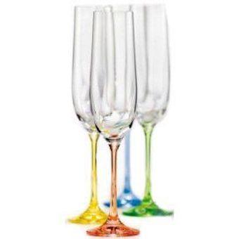Набір келихів для шампанського 6 шт 190 мл Rainbow Bohemia 40729/D4641/190