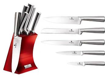 Набір ножів в червоній колоді Berlinger Haus 6шт
