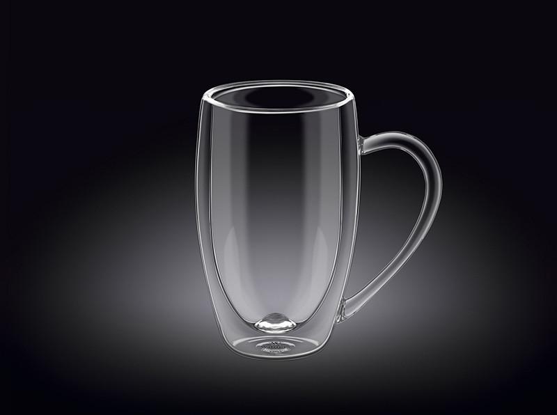 Чашка с двойным стеклом Wilmax Thermo 400мл