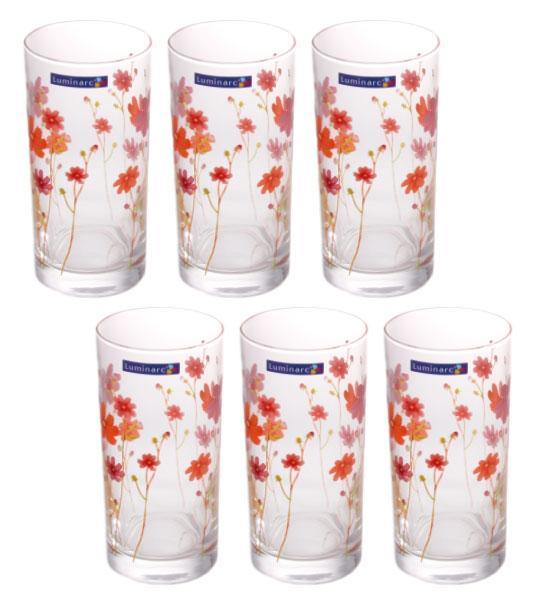 Набор высоких стаканов 6 шт 270 мл Country Flower Luminarc G1958
