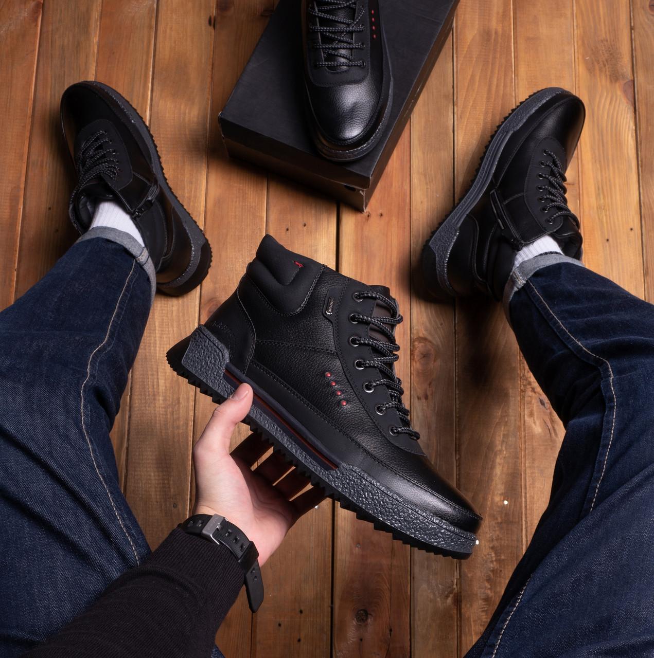 Мужские ботинки Харос Бланш Pobedov (черные)