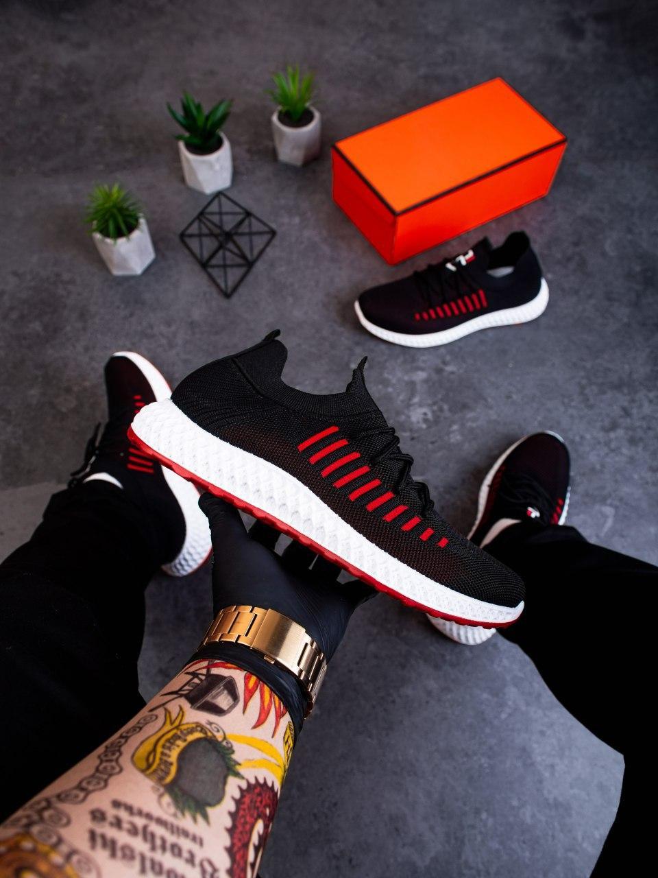 Мужские кроссовки Вонекс Фла Pobedov (черные)