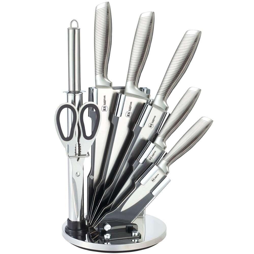 Набор ножей из нержавеющей стали на подставке 8 пр Rainstahl RS/KN-8008-08