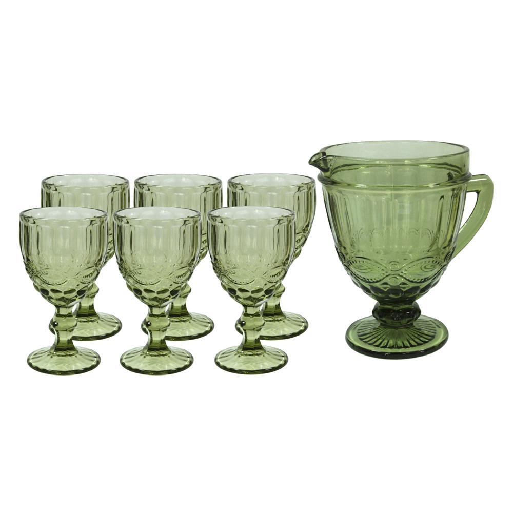 Набор для напитков 7 предметов Винтаж зеленый OLens 34215-7-1