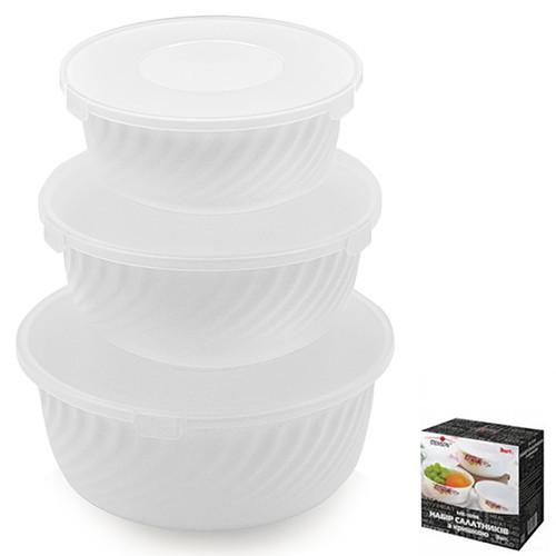Набор для салатников с крышкой 6 предметов Stenson MS-1098