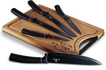 Набор ножей с доской Berlinger Haus Black Rose Collection BH-2550 6 предметов