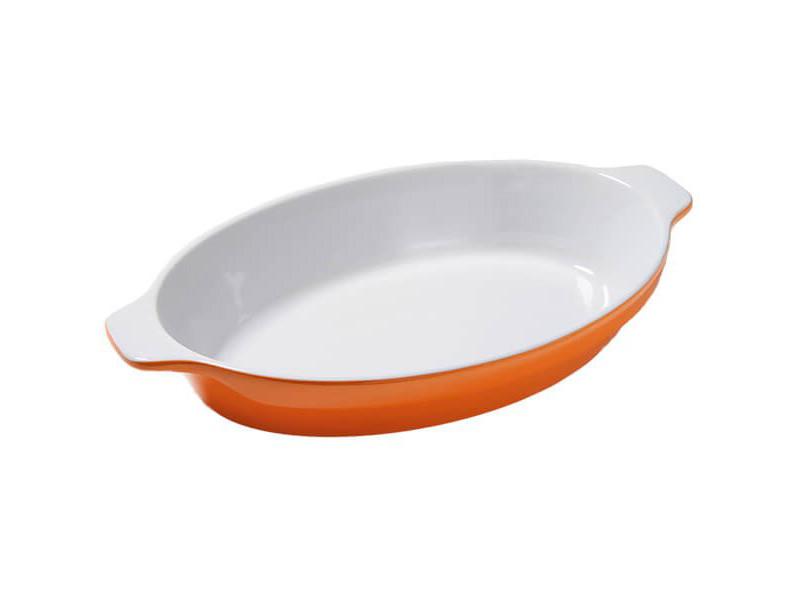 Керамическая форма для запекания Maestro оранжевая 42x29см
