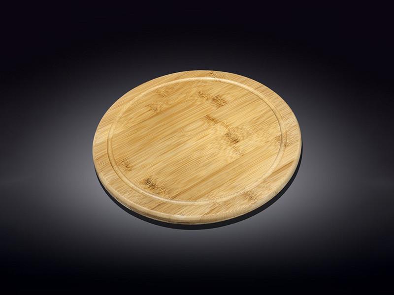 Круглое бамбуковое блюдо Wilmax Bamboo 30.5см
