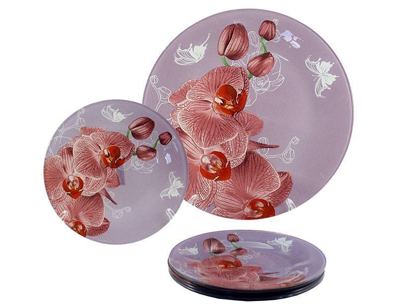 Набор для торта 7 предметов Орхидея сиреневая Lumines S-3000-7-R-035