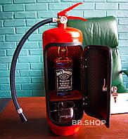 Огнетушитель-бар с подсветкой на пульте управления