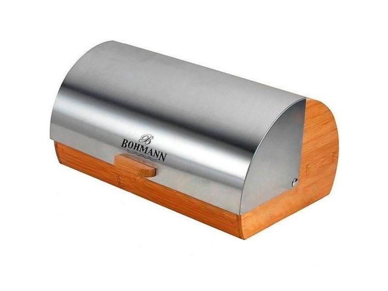 Хлебница с металлической крышкой Bohmann 38,5x28x18,5см