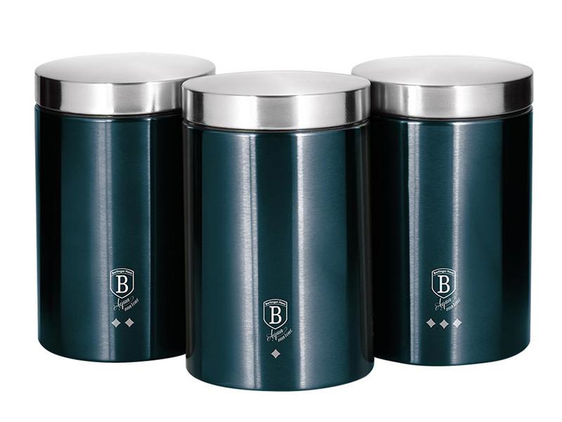 Набор банок для чая кофе сахара Berlinger Haus 11х17.8см 3шт