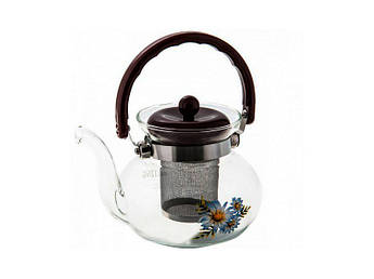 Стеклянный огнеупорный чайник Empire 900мл