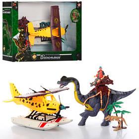 Набор игровой 2121-26B  динозавр41см,звук,подв.шея,гидросамолет31см,фигурка,бат,кор,52-35-17см