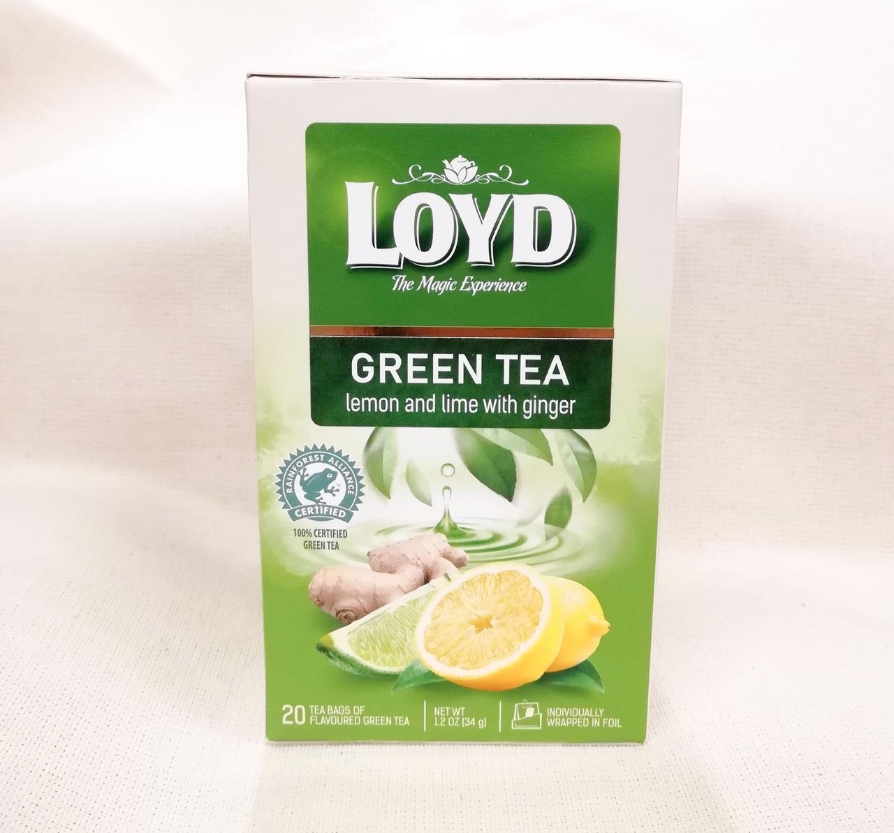 Чай LOYD Green tea Lemon and Lime with Ginger
