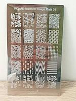 Пластина для стемпинга Konad Square Image Plate 01 - Б/у