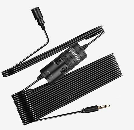 Профессиональный  петличный микрофон для телефонов Boya BY-M1 Pro (6 метров), фото 2