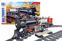 Конструктор поезд  536дет QL0312 р.59*35*6см.