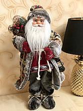 Мягкая игрушка Санта 46см, цвет - красный с серым