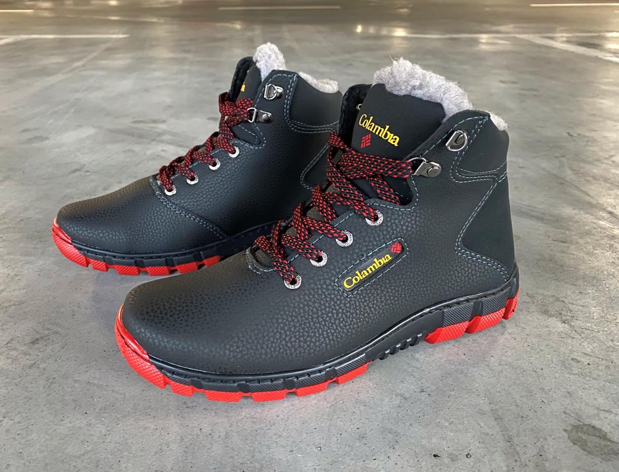 Кроссовки ботинки зимние мужские на красной подошве 40 размер