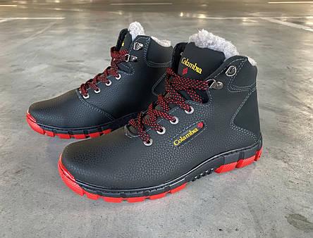 Кроссовки ботинки зимние мужские на красной подошве 40 размер, фото 2