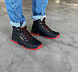 Кроссовки ботинки зимние мужские на красной подошве 40 размер, фото 3