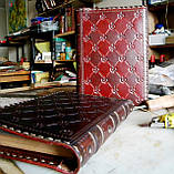Кожаный блокнот ежедневник винтажный ручной работы оригинальный подарок, фото 4