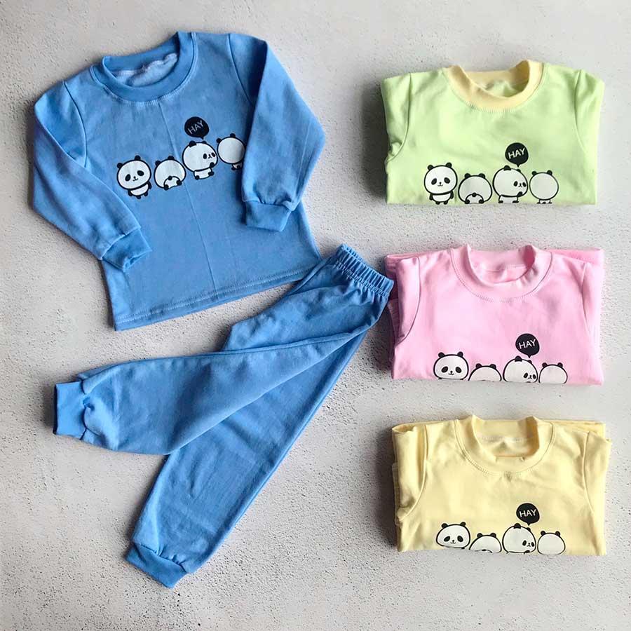 Детская пижама с начесом опт