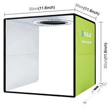 Фотобокс для предметной съемки (Лайткуб) с Led освещением Puluz 30*30 см (PU5032G), фото 2