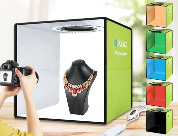 Фотобокс для предметной съемки (Лайткуб) с Led освещением Puluz 30*30 см (PU5032G)