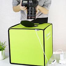Фотобокс для предметной съемки (Лайткуб) с Led освещением Puluz 30*30 см (PU5032G), фото 3