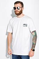 Хлопковая футболка 148P114-7 (Белый), фото 1