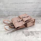 Рюкзак женский graf пудра из натуральной кожи kapri, фото 6