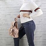 Рюкзак женский graf пудра из натуральной кожи kapri, фото 7