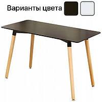 Столик кухонный обеденный Bonro В-950-1200 120х80х75 см стол для кухни Черный